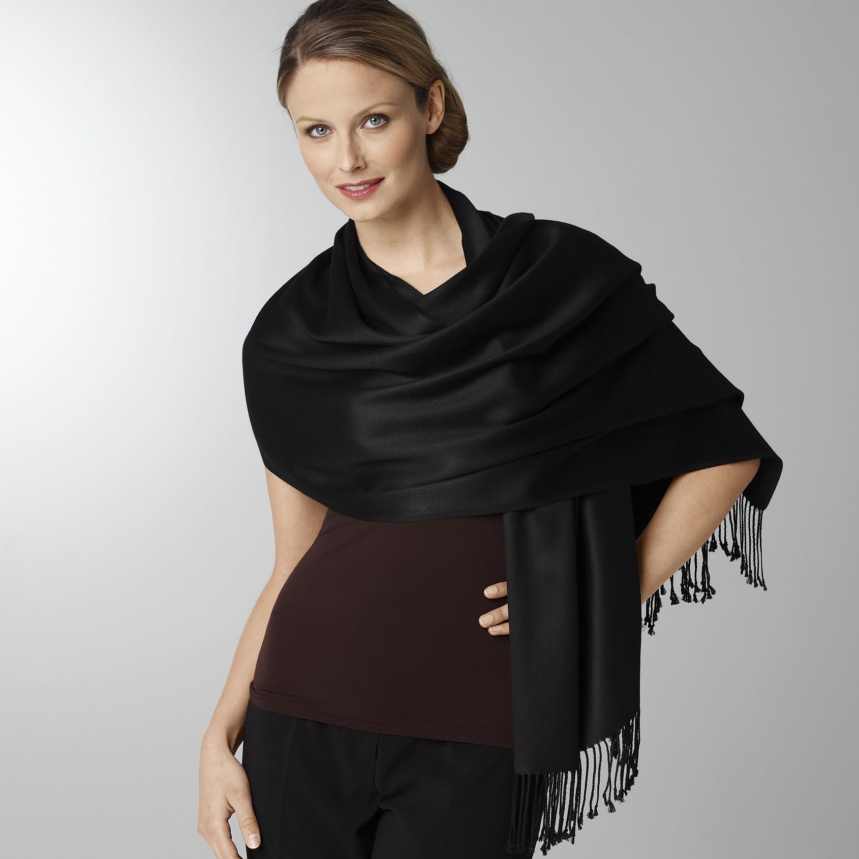 Elegant Outerwear The Pashmina  CyberStylist4u  CyberStylist4u Pashmina Scarf How To Wear