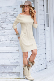Off shoulder sweater dress Archives - CyberStylist4u : CyberStylist4u